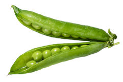 Fresh green peas in the pod Stock Photos