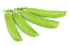 Fresh green peas pods. On white background Stock Photography