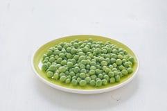Fresh green peas stews seasoned with mint Royalty Free Stock Image