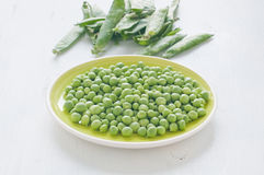 Fresh green peas stews seasoned with mint Stock Images