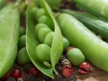 Fresh, green peas Royalty Free Stock Images