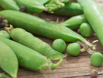 Fresh, green peas Royalty Free Stock Photography