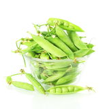 Fresh green peas vegetable in white background Stock Image