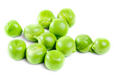 Fresh green peas  on white Stock Images