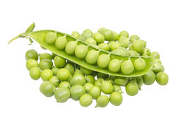 Fresh green peas Stock Photography