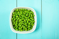 Fresh Green Peas In White Bowl Royalty Free Stock Image