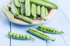 Fresh green peas Royalty Free Stock Photos