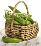 Fresh Green Peppers Stock Image