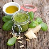 Fresh green pesto Royalty Free Stock Photography