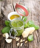 Fresh green pesto Royalty Free Stock Photo