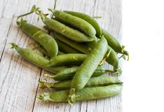 Fresh green pods from farmers market Royalty Free Stock Photos