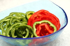 Fresh green and red bell pepper Stock Photography