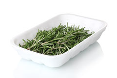 Fresh green rosemary in the package Stock Photos