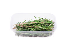 Fresh green rosemary in the package. Stock Photos
