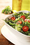 Fresh Green Salad with Arugula, Rocket and Cherry Tomatos Royalty Free Stock Photography