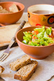 Fresh green salad Stock Image