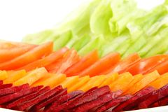 Fresh green salad, focus on beetroot Royalty Free Stock Photography