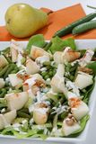 Fresh green salad with pear Royalty Free Stock Photography