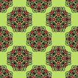 Fresh green seamless pattern Royalty Free Stock Images
