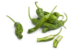 Fresh green shisito peppers Royalty Free Stock Photos