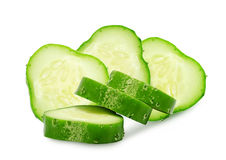 Fresh green slices of cucumber. Royalty Free Stock Photo