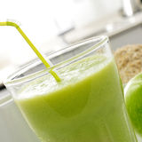 Fresh green smoothie Stock Images
