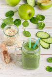 Fresh green smoothie from fruit and vegetables for a healthy lifestyle Stock Images