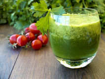 Fresh green smoothie for health and detox Stock Photography
