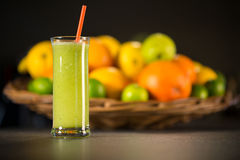 Fresh green smoothie made from mint Stock Photography