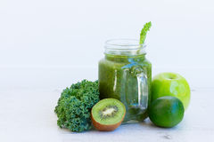 Fresh green smoothy drink Stock Images