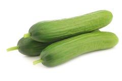 Fresh green snack cucumbers Stock Photo
