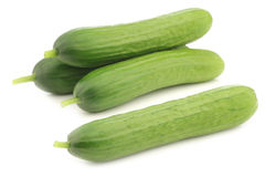Fresh green snack cucumbers Royalty Free Stock Photography