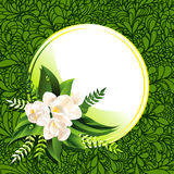 Fresh green spring background with flowers Royalty Free Stock Image
