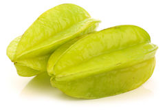 Fresh green starfruit Royalty Free Stock Images