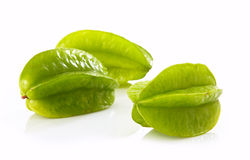 Fresh green starfruit Stock Image