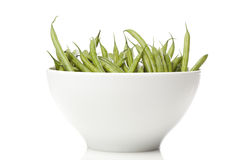 A fresh green string bean Stock Photos