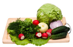 Free Fresh Green-stuffs On Cutting Board Royalty Free Stock Photo - 13982995