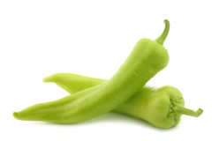 Fresh green sweet peppers (banana peppers) Royalty Free Stock Photos