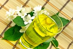 Fresh green tea with jasmin Royalty Free Stock Photos