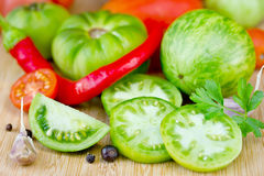 Fresh green tomatoes Royalty Free Stock Image