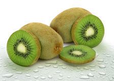 Fresh green tropical kiwi fruit Stock Photography