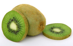 Fresh green tropical kiwi fruit Royalty Free Stock Images