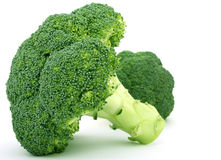 Fresh green vegetable, isolated over white royalty free stock photos