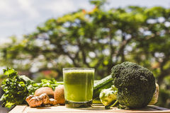 Fresh green vegetable juice royalty free stock images