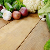 Fresh green vegetable set Royalty Free Stock Image