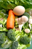 Fresh green vegetables 、 Royalty Free Stock Images