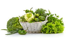 Fresh green vegetables Royalty Free Stock Images