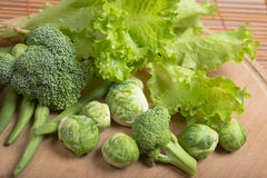 Fresh  green vegetables for healthy nutrition Royalty Free Stock Photos