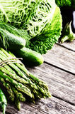 Fresh green vegetables Royalty Free Stock Photos