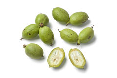 Fresh green walnuts Stock Image